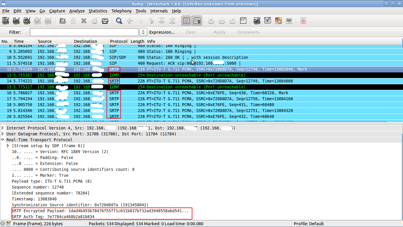 srtp-wireshark